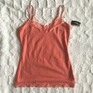 Express Cami Adjustable Strap Fitted Lace Small